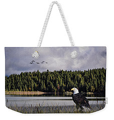 Weekender Tote Bag featuring the photograph Taking A Break As Evening Falls by Diane Schuster