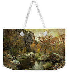 Taking A Hike Weekender Tote Bag by Barbara Manis