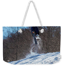Weekender Tote Bag featuring the photograph Taking Air On Mccauley Mountain by David Patterson