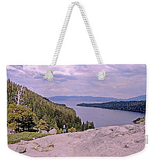 Weekender Tote Bag featuring the photograph Taking It In  by Lynda Lehmann