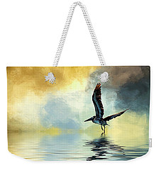 Taking Off Weekender Tote Bag by Cyndy Doty