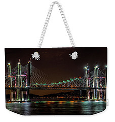 Tale Of 2 Bridges At Night Weekender Tote Bag