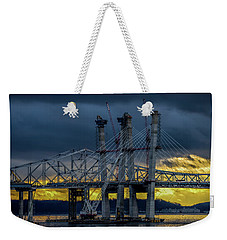 Tale Of 2 Bridges At Sunset Weekender Tote Bag