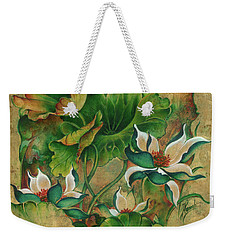 Talks About The Essence Of Life Weekender Tote Bag by Anna Ewa Miarczynska