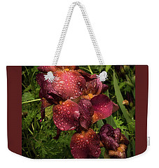 Tall Bearded Iris Warrior Weekender Tote Bag