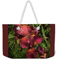 Tall Bearded Iris Warrior Weekender Tote Bag