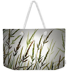 Weekender Tote Bag featuring the digital art Tall Grass And Sunlight by James Williamson