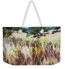 Tall Grass. Late Summer Weekender Tote Bag