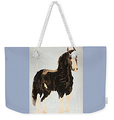 Weekender Tote Bag featuring the painting Tall Horse by Donald J Ryker III