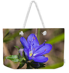 Tall Hydrolea Wildflower Weekender Tote Bag by Christopher L Thomley