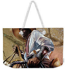 Tall In The Saddle Cowboy Pride 1a Weekender Tote Bag