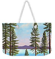 Tall Pines Of Lake Tahoe Weekender Tote Bag