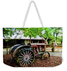 Weekender Tote Bag featuring the digital art Tall Rims by Steve Taylor
