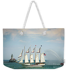 Tall Ship Weekender Tote Bag