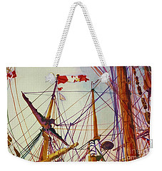 Tall Ship Lines Weekender Tote Bag