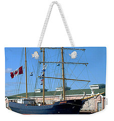 Weekender Tote Bag featuring the photograph Tall Ship Waiting by RC DeWinter