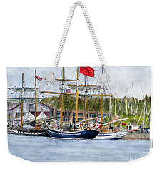 Weekender Tote Bag featuring the painting Tall Ships Festival by Melly Terpening