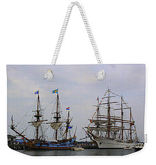 Historic Tall Ships Hermione And Sagres Weekender Tote Bag