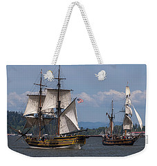 Tall Ships Square Off Weekender Tote Bag