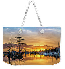 Tall Ships Sunset 1 Weekender Tote Bag