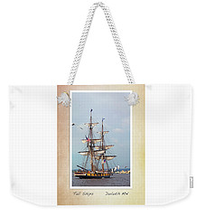 Tall Ships V1 Weekender Tote Bag