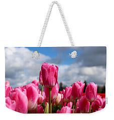 Tall Standing Tulip Weekender Tote Bag