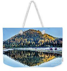 Tamarack Glow Idaho Landscape Art By Kaylyn Franks Weekender Tote Bag