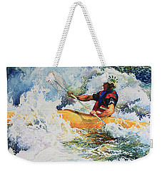 Weekender Tote Bag featuring the painting Taming Of The Chute by Hanne Lore Koehler