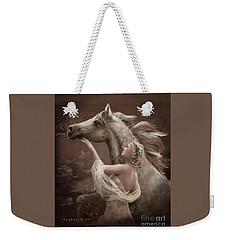 Weekender Tote Bag featuring the digital art Taming The Wild Spirit by Melinda Hughes-Berland