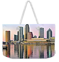 Tampa In Vivid Color Weekender Tote Bag