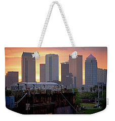 Tampa's Skyline From The Port Weekender Tote Bag