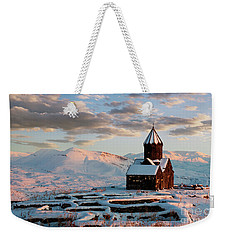 Tanahat Monastery At Sunset In Winter, Armenia Weekender Tote Bag