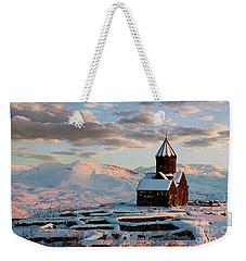 Tanahat Monastery At Sunset In Winter, Armenia Weekender Tote Bag by Gurgen Bakhshetsyan