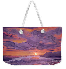 Tangerine Sky Weekender Tote Bag by Holly Martinson