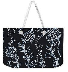 Tangle Flowers Weekender Tote Bag