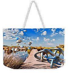 Tangle On The Boardwalk - Something's Not Right Weekender Tote Bag
