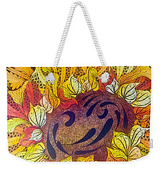 Tangled Sunflower Weekender Tote Bag