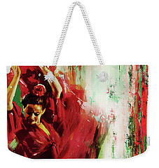 Weekender Tote Bag featuring the painting Tango Dance 45g by Gull G