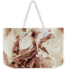 Weekender Tote Bag featuring the painting Tango Dance 9910j by Gull G