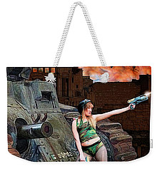 Tank Girl In Action Weekender Tote Bag