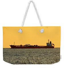 Tanker At Sunrise Weekender Tote Bag