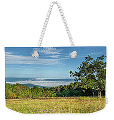 Tanners Ridge Overlook Morning Fog Ocean Weekender Tote Bag