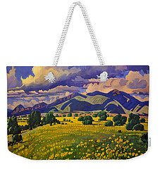 Taos Fields Of Yellow Weekender Tote Bag