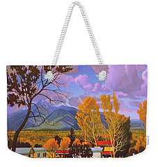 Taos Red Roofs Weekender Tote Bag