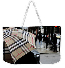 Weekender Tote Bag featuring the photograph Tap Me On The Shoulder  by Empty Wall