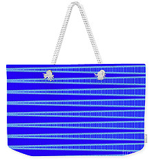 Weekender Tote Bag featuring the digital art Tapestry In Blue by Ann Johndro-Collins