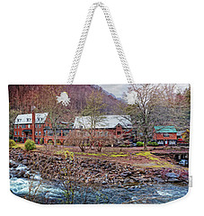 Weekender Tote Bag featuring the photograph Tapoco Lodge by Debra and Dave Vanderlaan