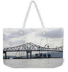 Tappan Zee Bridge From Tarrytown Weekender Tote Bag by Suhas Tavkar