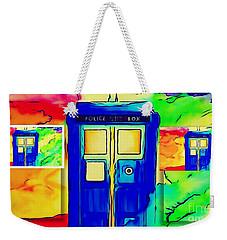 Weekender Tote Bag featuring the digital art Tardis Three by Justin Moore