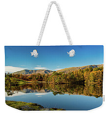Weekender Tote Bag featuring the photograph Tarn Hows by Mike Taylor